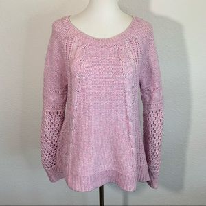 AMERICAN EAGLE OUTFITTERS Lilac Cable Knit Sweater